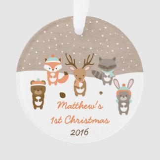 Ęr ornement de Noël d'hiver d'animal mignon de