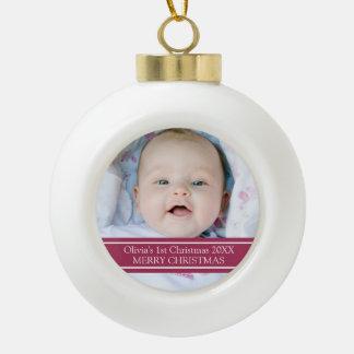 Ęr ornement de Noël du bébé fait sur commande de p
