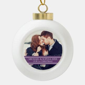 Ęr ornement de Noël du couple fait sur commande de