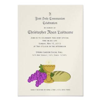 ęr Pain de communion de la vie Carton D'invitation 12,7 Cm X 17,78 Cm