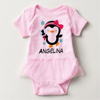 ęr T-shirt de pingouin de filles d'anniversaire