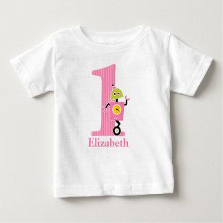 ęr T-shirt de robot d'anniversaire