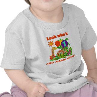 Ęr T-shirt personnalisé d anniversaire de safari