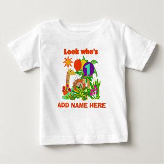 Ęr T-shirt personnalisé d'anniversaire de safari