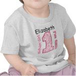 ęr Zèbre rose d'anniversaire un nom fait sur comma T-shirt