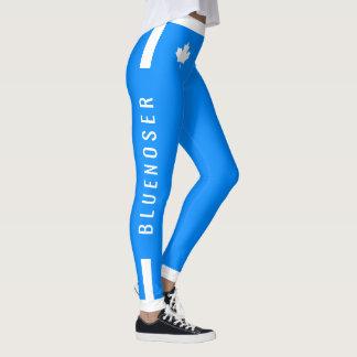 Érable canadien de Bluenoser sur le bleu Leggings