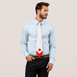 Érable canadien sur rouge et blanc cravate