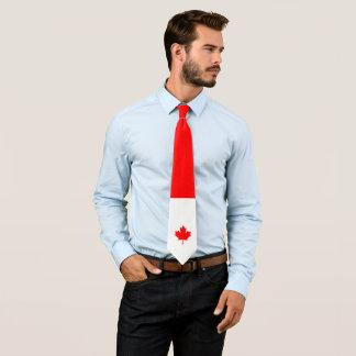 Érable canadien sur rouge et blanc cravates