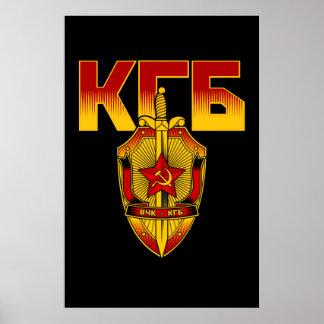 Ère russe de Soviétique d'insigne de KGB Poster