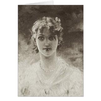 Ère victorienne - portrait de Madame Carte De Vœux
