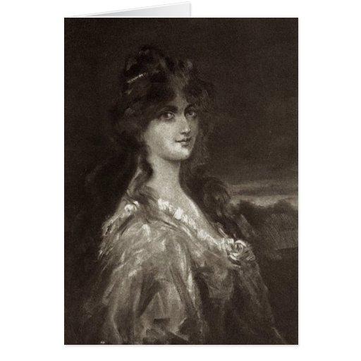 Ère victorienne - Portrait de Madame Cartes De Vœux