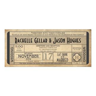 Ère vintage 2,0 des années 40 du billet IV de Carton D'invitation 10,16 Cm X 23,49 Cm