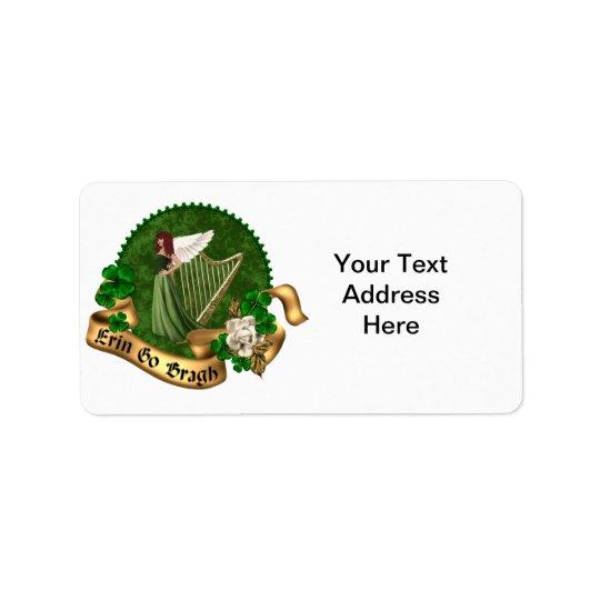 Erin vont Irlandais de Bragh Étiquette D'adresse