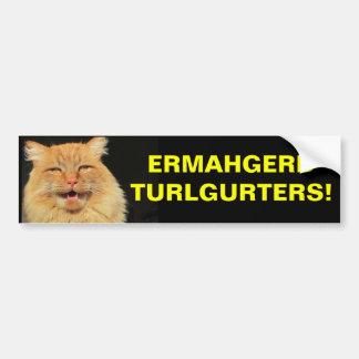 Ermahgerd Turlgerters ! Non-respect des distances Autocollant Pour Voiture