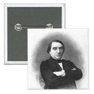 Ernest Renan après une photographie par Pierre Badge Carré 5 Cm