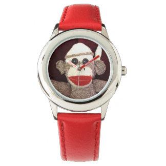 Ernie la montre-bracelet de singe de chaussette montres bracelet
