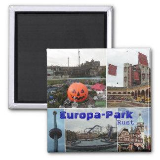 EropaPark, Europa-Parc, rouille Magnet Carré