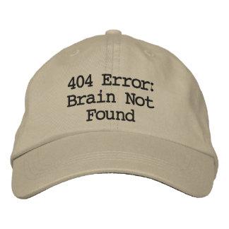 Erreur 404 : Cerveau non trouvé Casquette Brodée