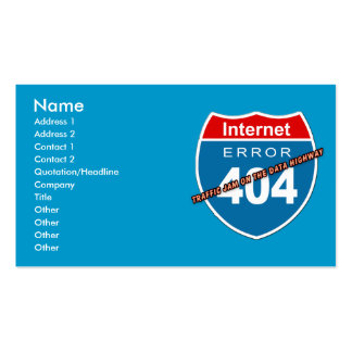 Erreur 404 d'Internet Carte De Visite Standard