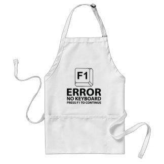 Erreur aucune presse F1 de clavier à continuer Tablier