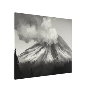 Éruption de Mt St Helens - copie enveloppée de toi Toile Tendue Sur Châssis