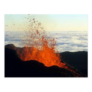 Éruption volcanique carte postale