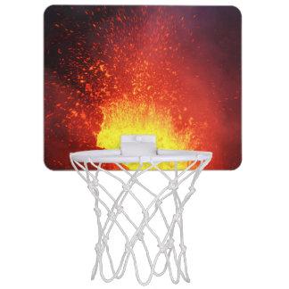 Éruption volcanique de belle nuit mini-panier de basket