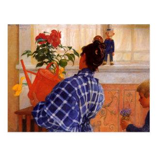 Esbjorn apporte des violettes de Karin Cartes Postales