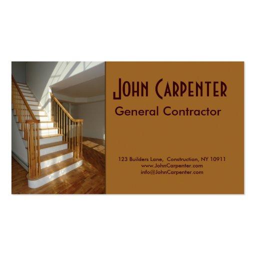 Escalier dans la maison de nouvelle construction modèles de cartes de visite