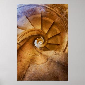 Escalier de haut en bas de spirl, Portugal Poster