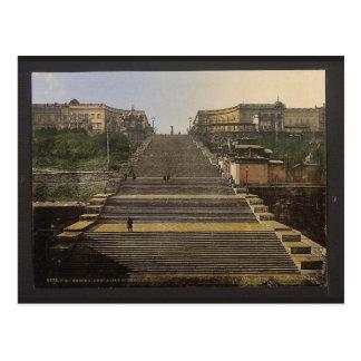 Escalier de Richelieu, Odessa, Russie, (c.-à-d., l Carte Postale
