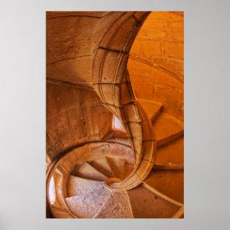 Escalier en spirale tordu, Portugal Poster
