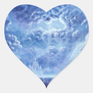 Escalier H100 au ciel Sticker Cœur
