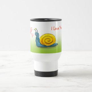 Escargot aimé avec le grand coeur - attaquez le mug de voyage en acier inoxydable