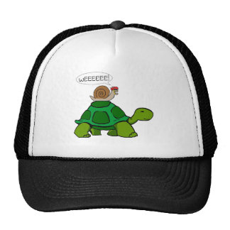 Escargot et tortue - duo de Turbo Casquettes
