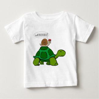 Escargot et tortue - duo de Turbo T-shirt Pour Bébé