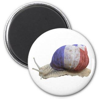 Escargot français de drapeau magnets pour réfrigérateur