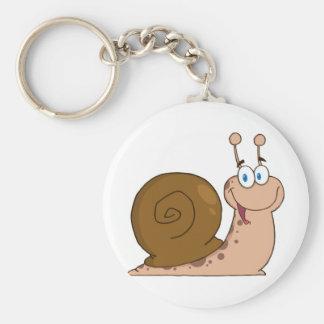 Escargot superbe de sourire porte-clés