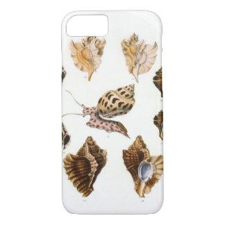 Escargots vintages et mollusques, organismes coque iPhone 7