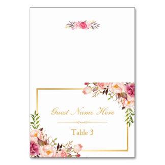 Escorte florale rose chic élégante d'endroit de