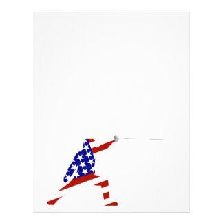 Escrimeur cent pour cent américain/clôture prospectus 21,6 cm x 24,94 cm