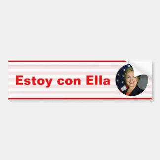 Escroc d'Estoy Ella - Hillary Clinton Autocollant Pour Voiture