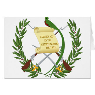 Escudo de armas de Guatemala - manteau des bras Carte De Vœux