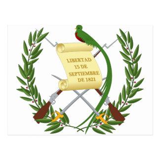 Escudo de armas de Guatemala - manteau des bras Cartes Postales