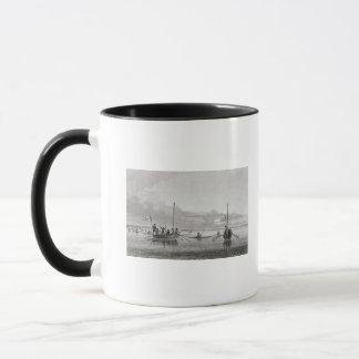 Eskimaux venant vers des bateaux dans Shoalwater Mugs
