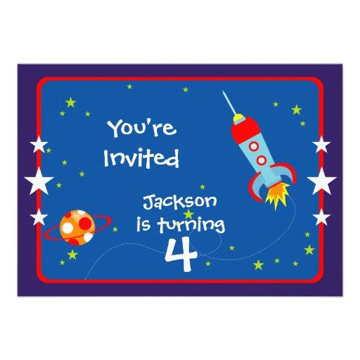 Espace extra-atmosphérique 1 invitation de fête d'