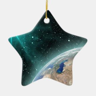 Espace extra-atmosphérique de la terre ornement étoile en céramique