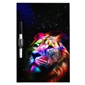 Espacez le lion de _caseSpace de lion - lion Tableau Effaçable À Sec