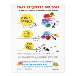 """Espacez l'étiquette pour des chiens - 8,5"""" x 11"""" d prospectus 21,6 cm x 24,94 cm"""