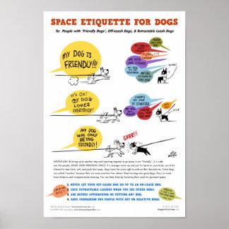 Espacez l'étiquette pour l'affiche de chiens - 22 posters